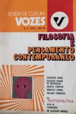 Revista de Cultura Vozes – Nº 5 – 1974 – Ano 68 – Filosofia e Pensamento Contemporâneo